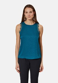 Oltre - MIT PUNKTMUSTER - Blouse - green - 0