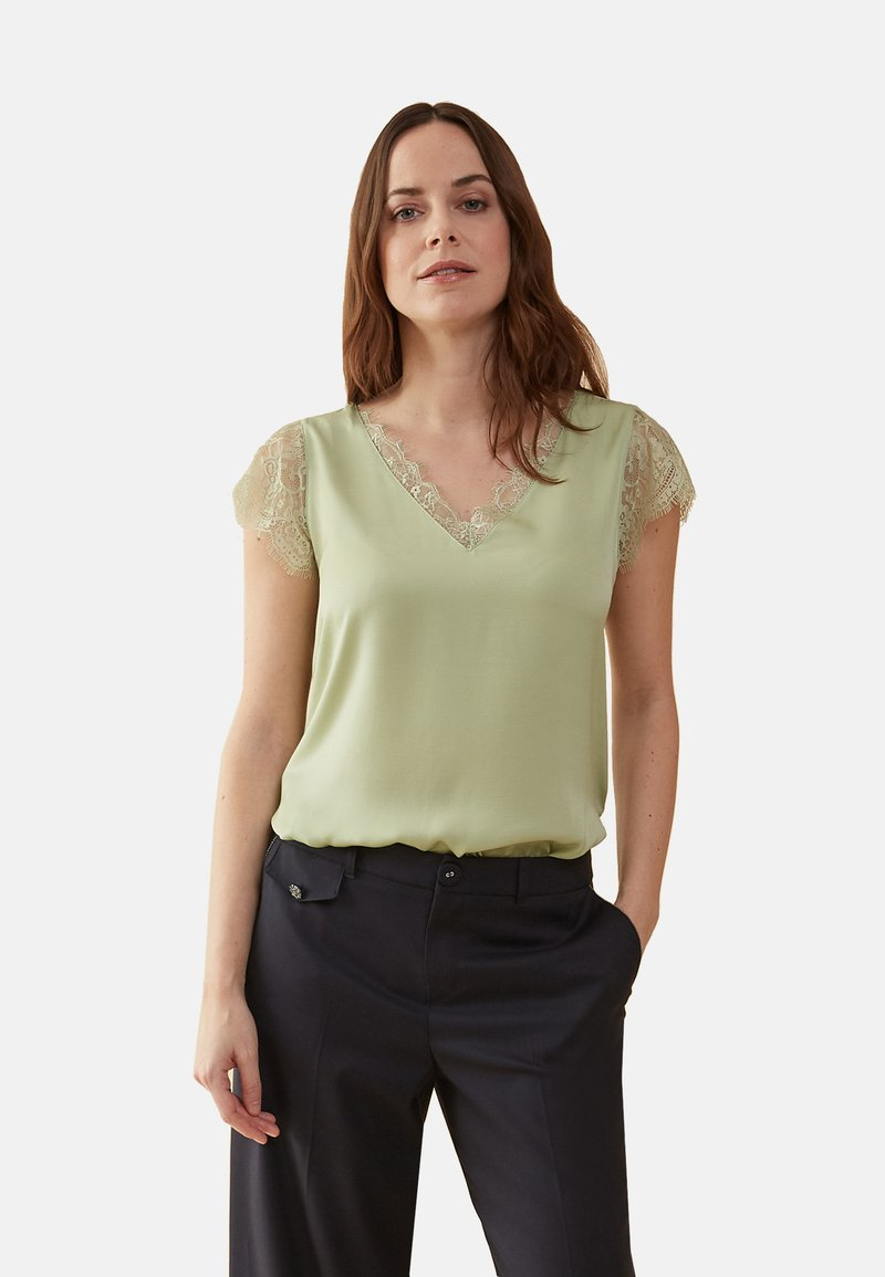 Oltre - MIT SPITZE - Blouse - green