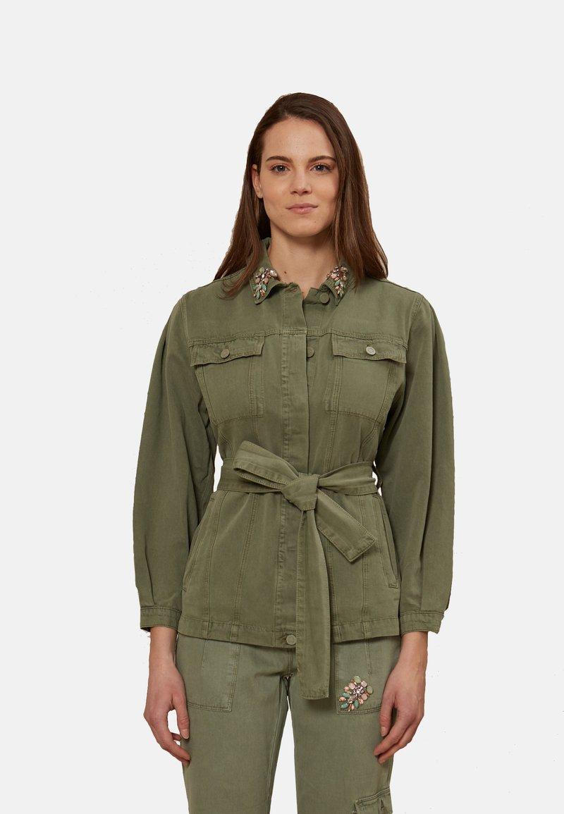 Oltre - Denim jacket - verde