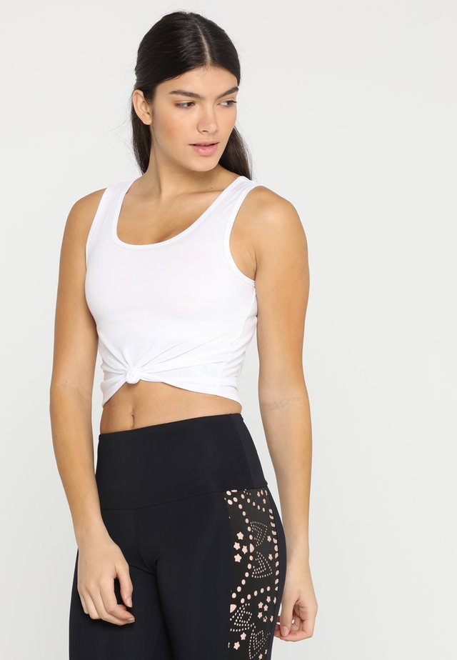 KNOT CROP - Funktionsshirt - white