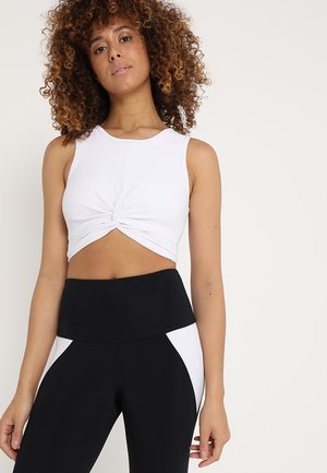 FRONT TWIST CROP - Top - white