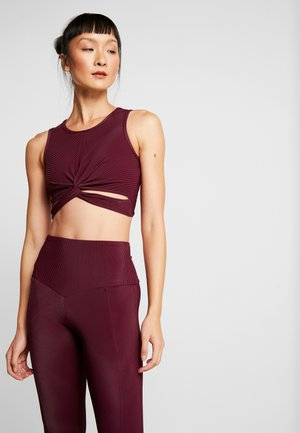 FRONT TWIST CROP - Topper - purple