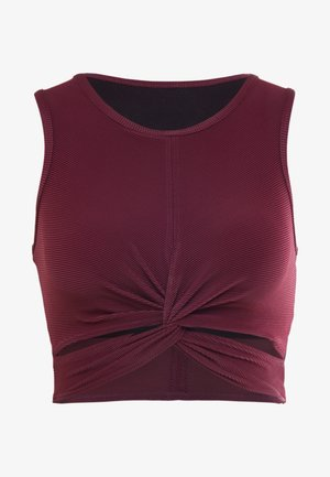 FRONT TWIST CROP - Top - purple