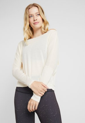 OFF SHOULDER - T-shirt à manches longues - natural