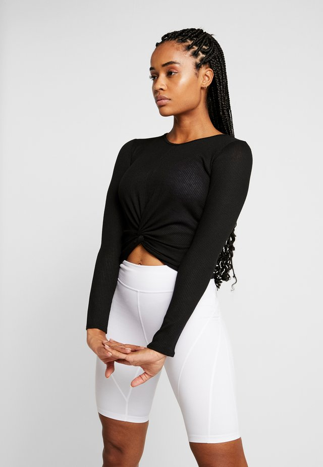 TWIRL  - Long sleeved top - black