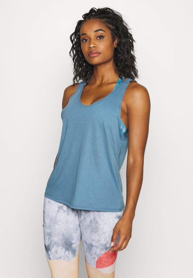 SLIT BACK TANK - Topper - pewter