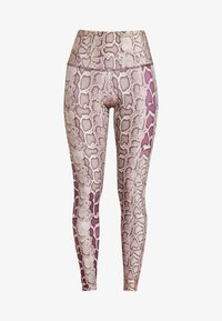 Onzie - HIGH RISE GRAPHIC - Legginsy - sand/red - 4