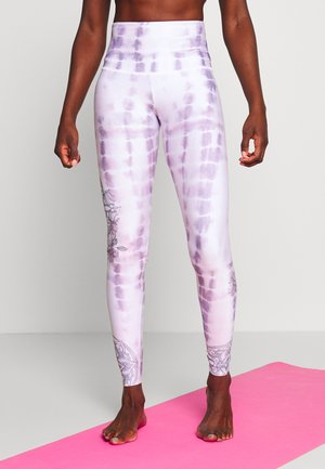 HIGH RISE GRAPHIC - Tights - purple