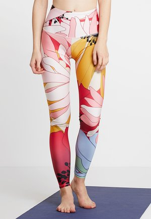 HIGH RISE GRAPHIC - Legging - multi-coloured/red