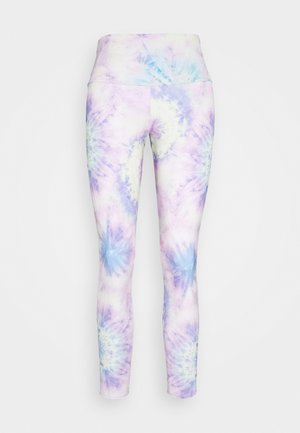 HIGH BASIC MIDI - Legging - neon tie dye