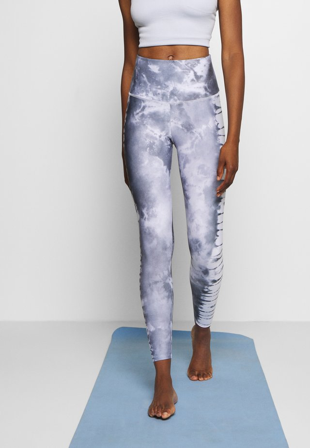 HIGH RISE GRAPHIC MIDI - Legging - light grey