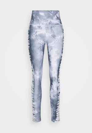 HIGH RISE GRAPHIC MIDI - Tights - light grey