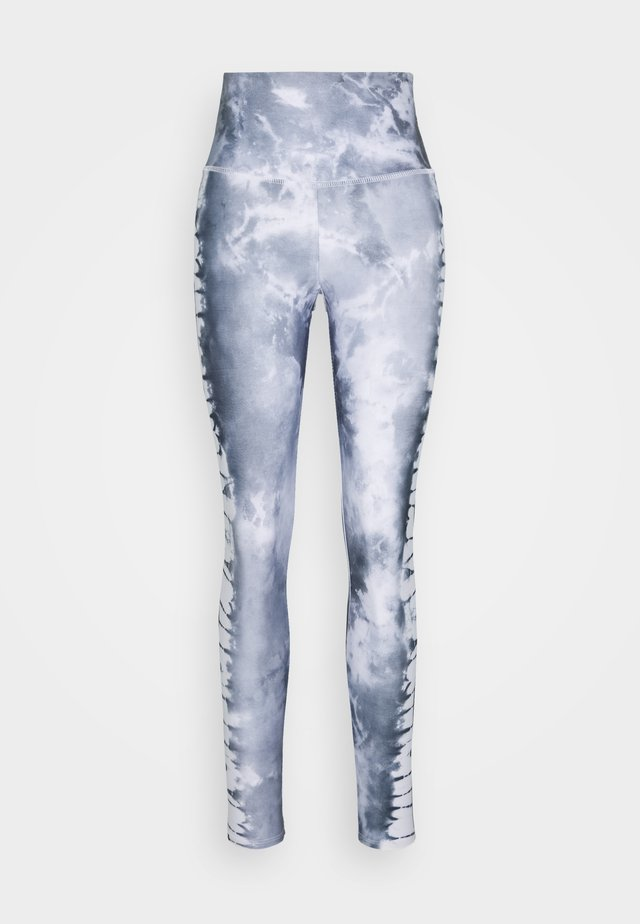 HIGH RISE GRAPHIC MIDI - Legginsy - light grey