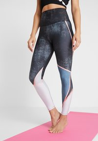 Onzie - HIGH RISE GRAPHIC MIDI - Tights - blue - 0