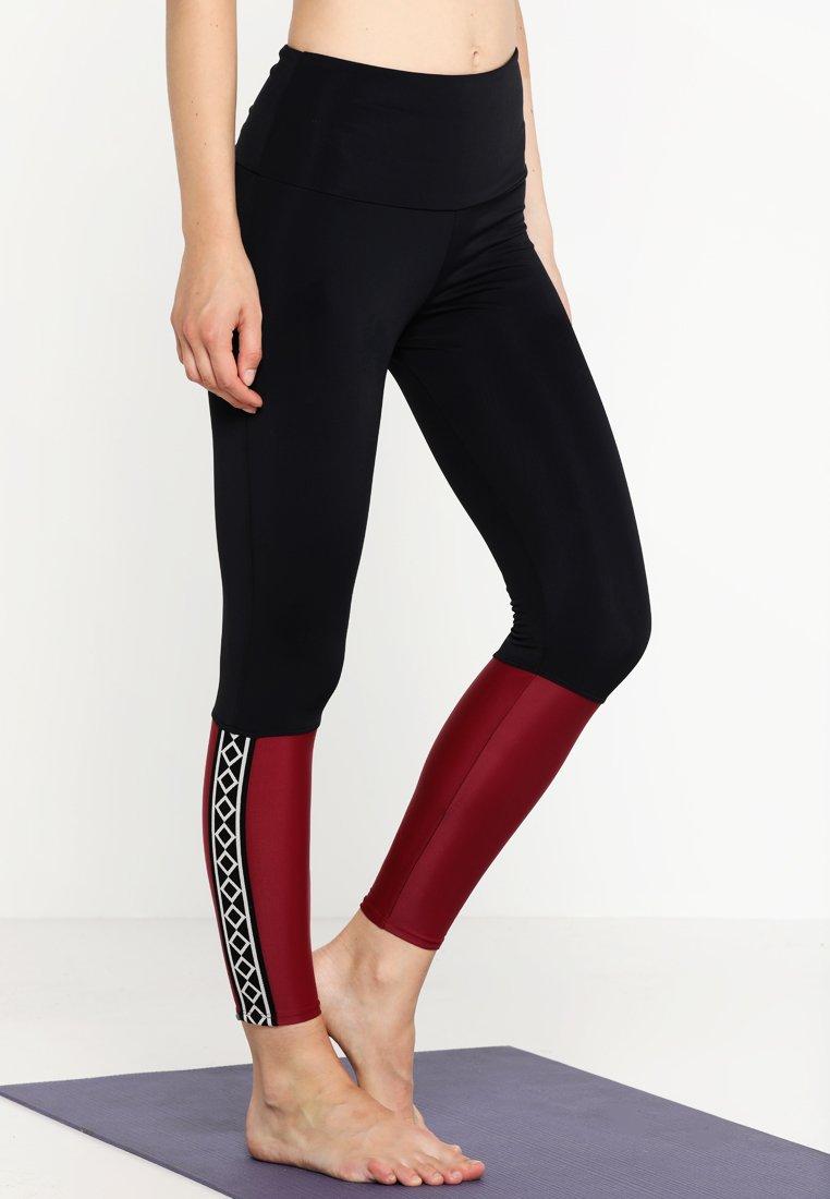 Onzie - OLYMPIAN LEGGING - Collants - burgundy combo