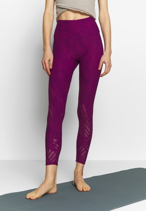 SELENITE MIDI - Leggings - black cherry