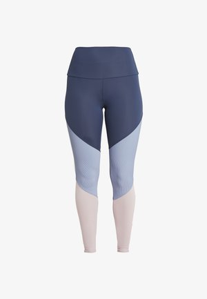 HIGH RISE TRACK LEGGING - Tights - blue