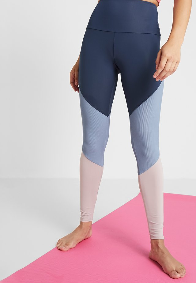 HIGH RISE TRACK LEGGING - Leggings - blue