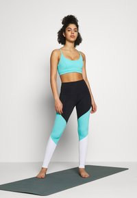 Onzie - HIGH RISE TRACK LEGGING - Leggings - black/cabo blue/white - 1