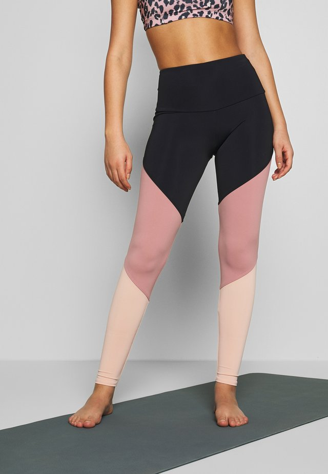 HIGH RISE TRACK LEGGING - Leggings - black/ash rose