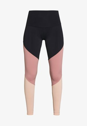 HIGH RISE TRACK LEGGING - Tights - black/ash rose
