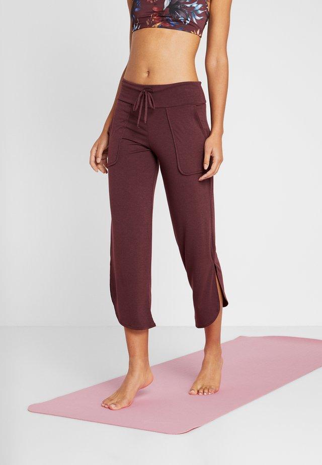 PANT - Jogginghose - burgundy