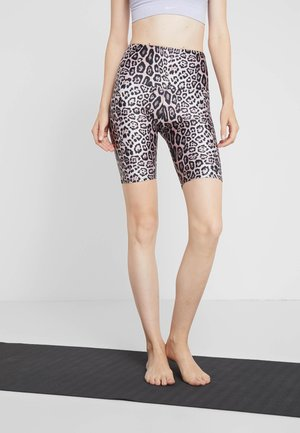 HIGH RISE BIKE SHORT - Tights - sand