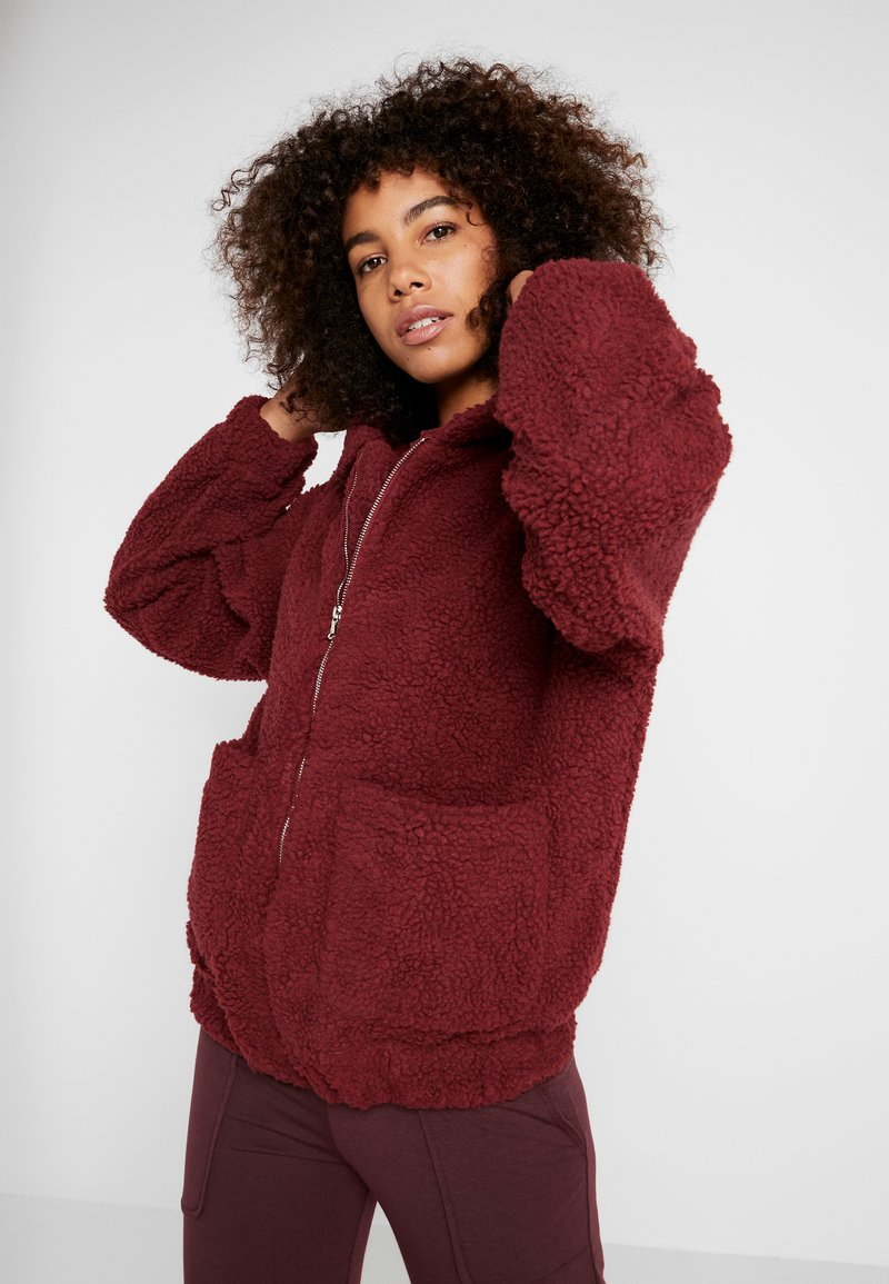 Onzie - TEDDY JACKET - Outdoorjas - burgundy