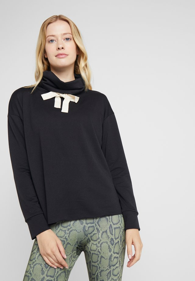 COWL NECK - Sweatshirt - black