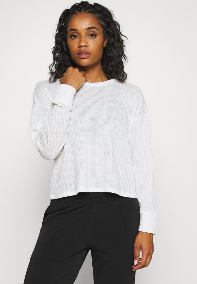 WAFFLE  - Strickpullover - ivory