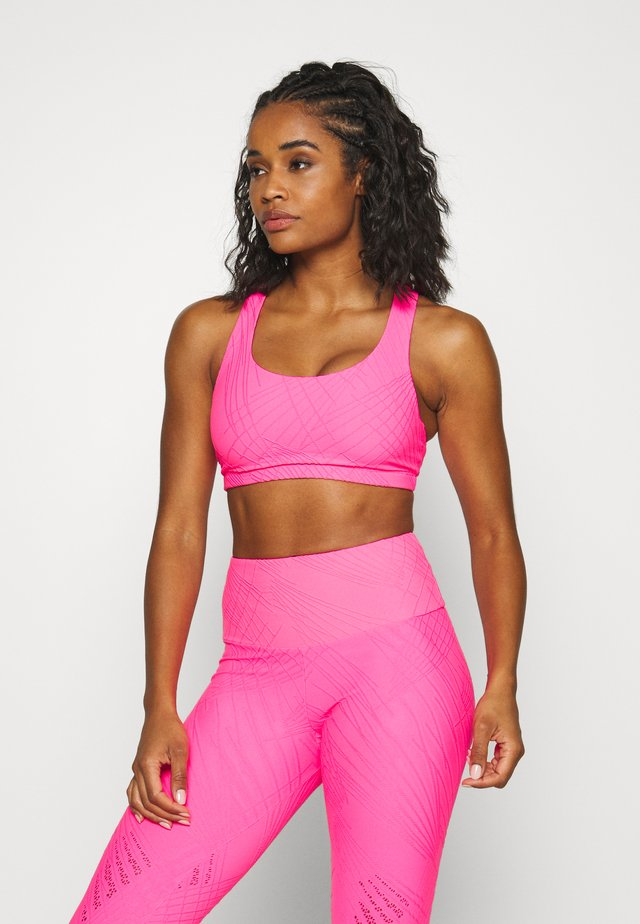 MUDRA BRA - Sports bra - neon pink selenite