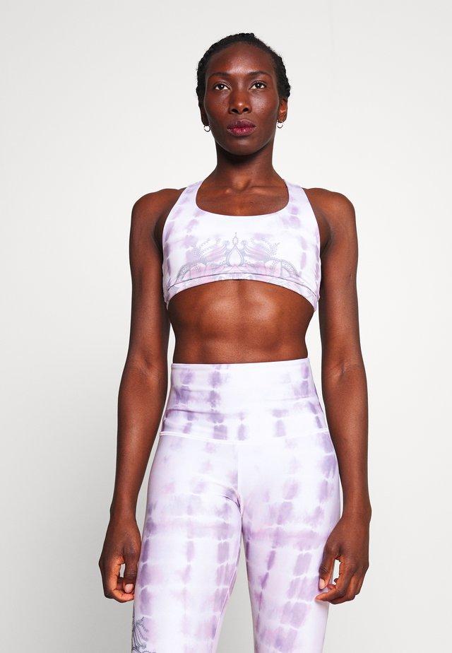 GRAPHIC MUDRA BRA - Sports bra - purple