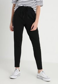 ONLY - ONLPOPTRASH PIPING PANT - Tracksuit bottoms - black - 0