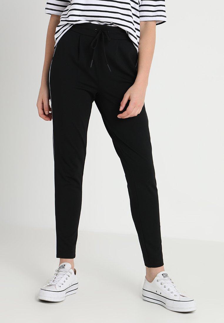 ONLY - ONLPOPTRASH PIPING PANT - Tracksuit bottoms - black