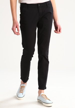 ONLPARIS LOW PANTS - Chinos - black