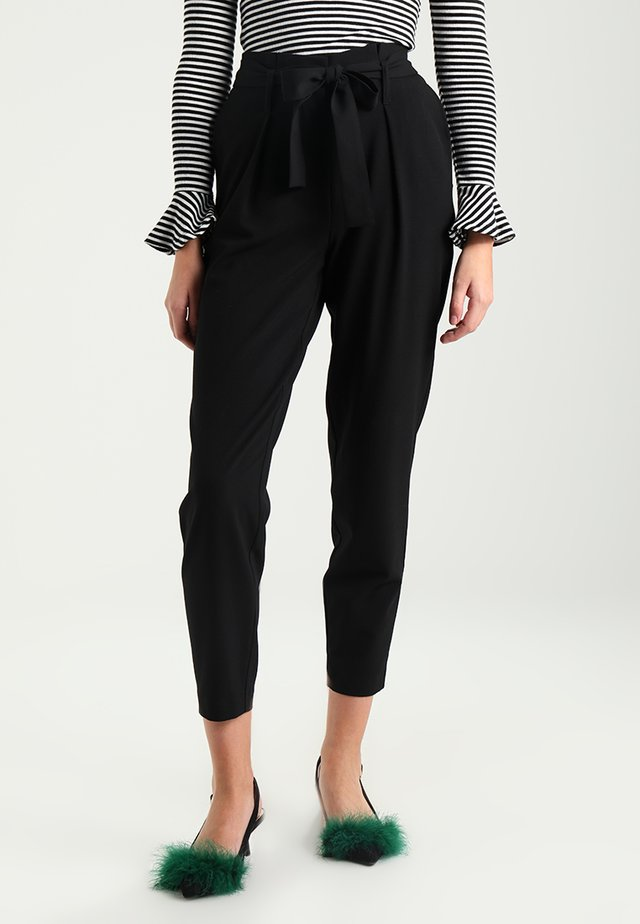 ONLNICOLE PAPERBAG  - Trousers - black