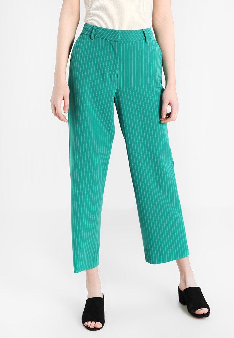 ONLY - ONLMIKA PINSTRIPE WIDE PANTS - Stoffhose - shady glade