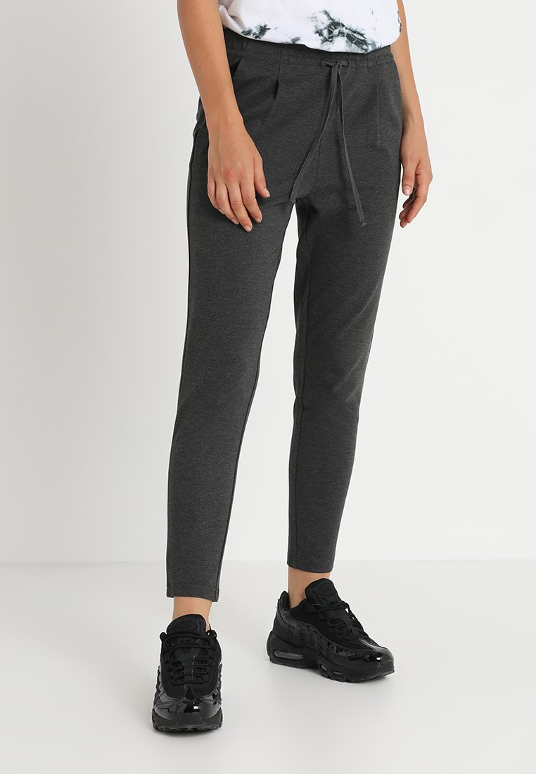 ONLY - ONLPOP TAILORED STRING PANTS  - Stoffhose - dark grey melange