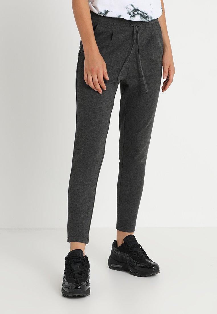 ONLY - ONLPOP TAILORED STRING PANTS  - Pantaloni - dark grey melange