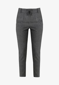 ONLY - ONLPOPTRASH SOFT CHECK PANT - Pantaloni - black/cloud dancer - 5