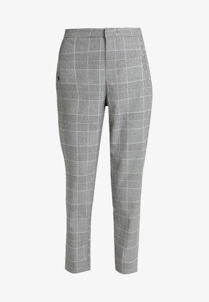 ONLLESLIE CHECK CIGARETTE PANT - Kalhoty - medium grey melange