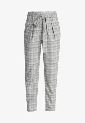 ONLNICOLE CHECK PANTS - Pantalon classique - light grey melange