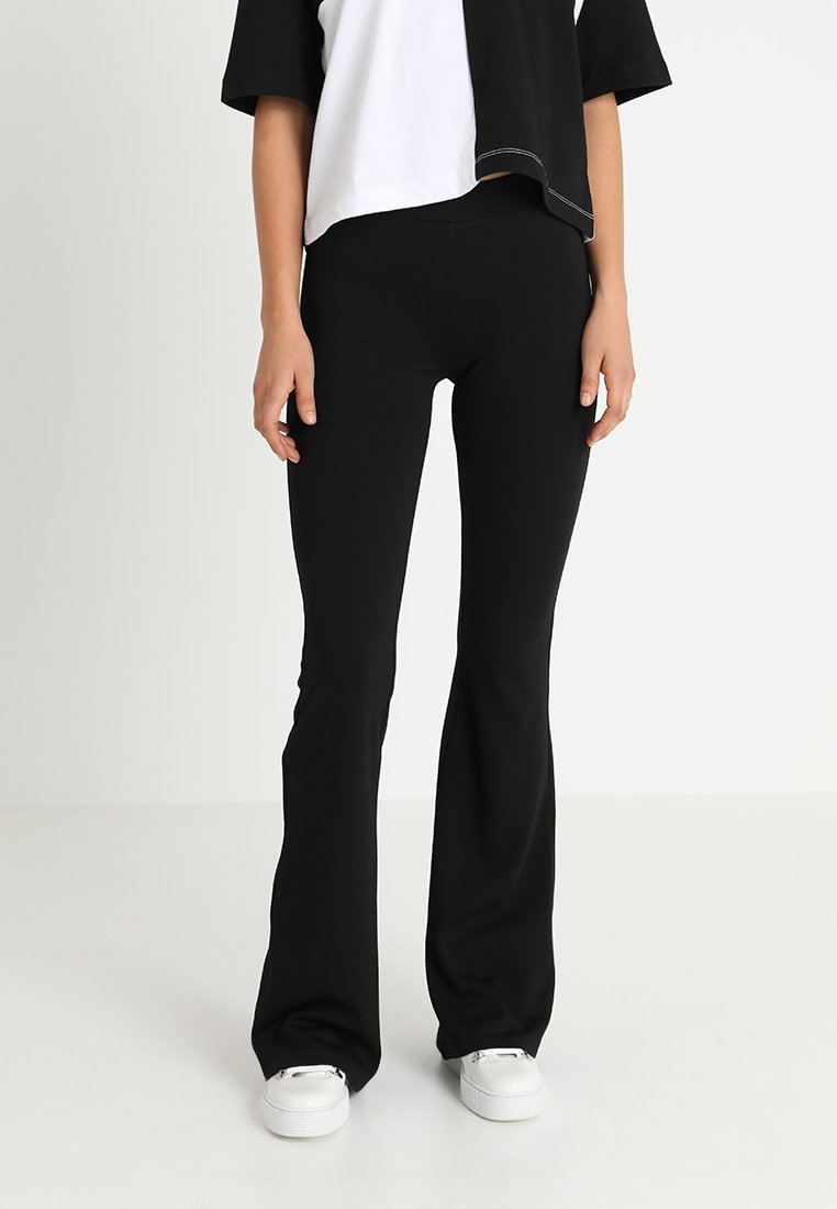 ONLY - ONLPAIGE FLARED PANT - Trousers - black
