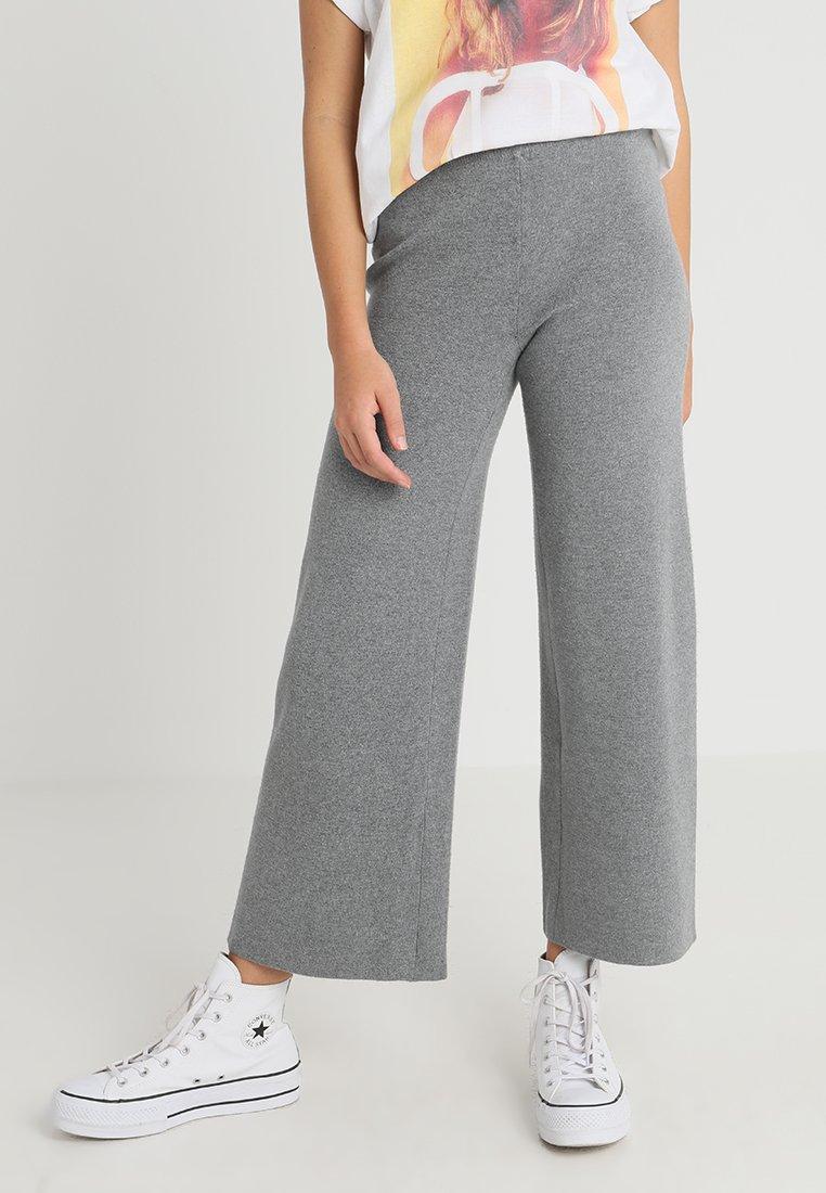 ONLY - ONLNEW DALLAS PANTS  - Trousers - medium grey melange