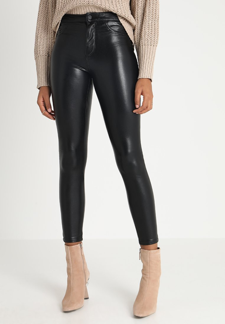 ONLY - ONLCRUSH HIGH WAIST ANKLE PANT  - Trousers - black