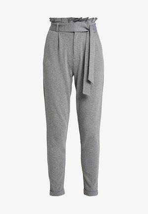 ONLPOPTRASH EASY X PAPERBACK PANT - Kalhoty - medium grey melange