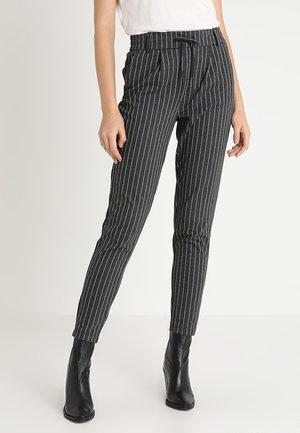 ONLPOPTRASH DOUBLE STRIPE PANT - Trousers - dark grey melange