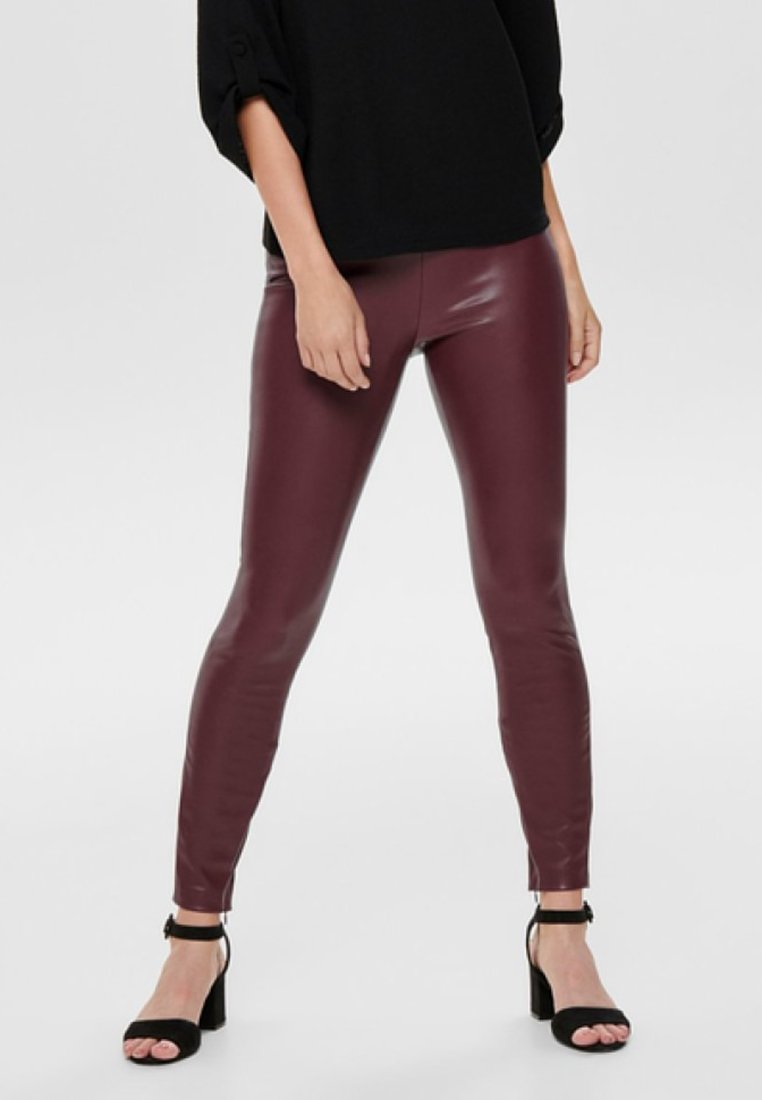 ONLY - ONLVIVI - Leggings - Hosen - tawny port