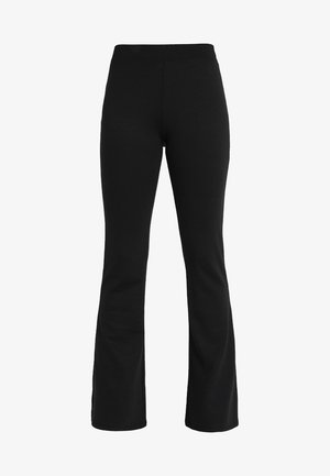 ONLFEVER FLARED PANTS - Kangashousut - black