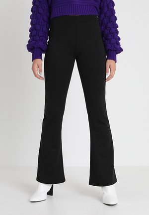ONLFEVER FLARED PANTS - Broek - black